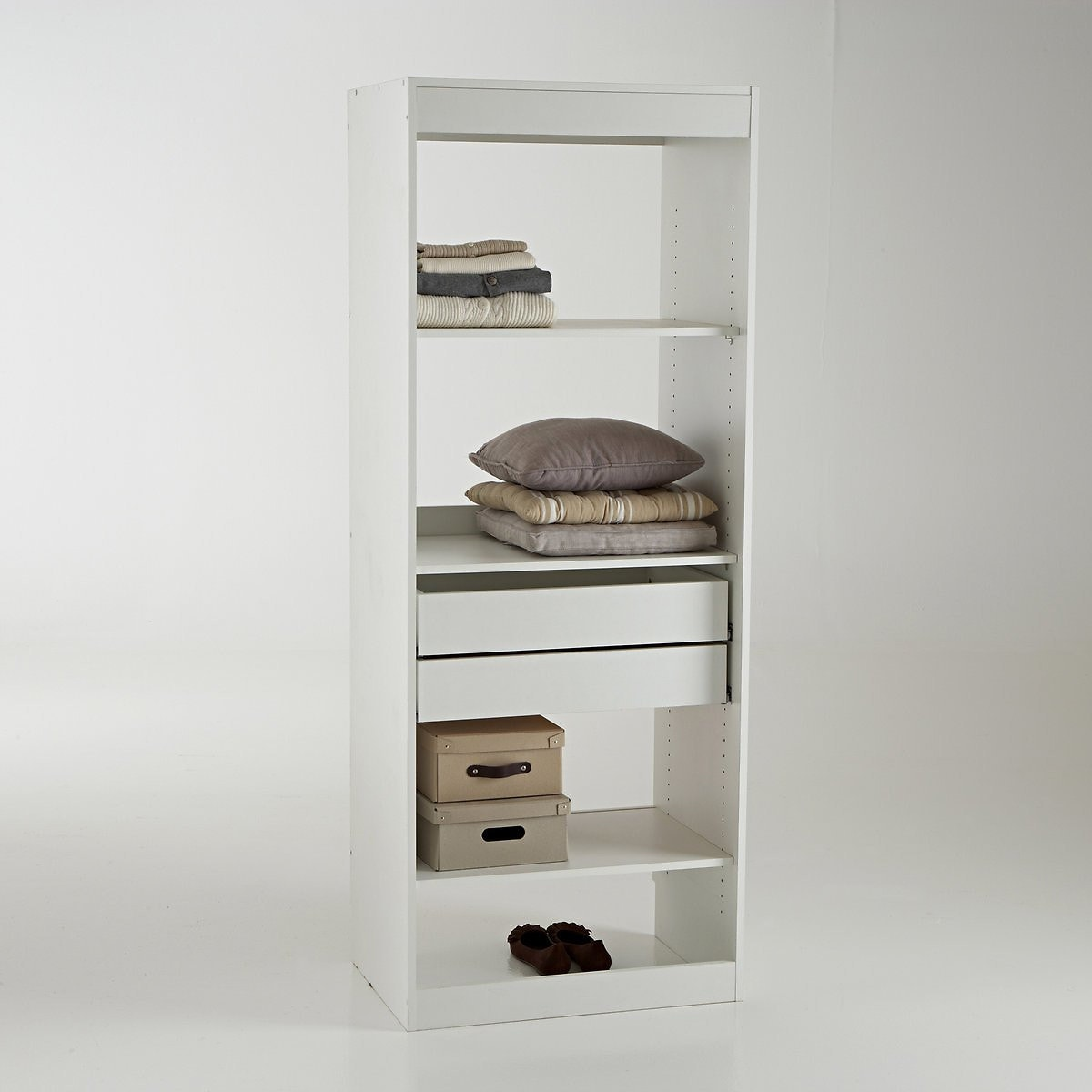 Μονάδα ντουλάπας με 3 ράφια και 2 συρτάρια, Build