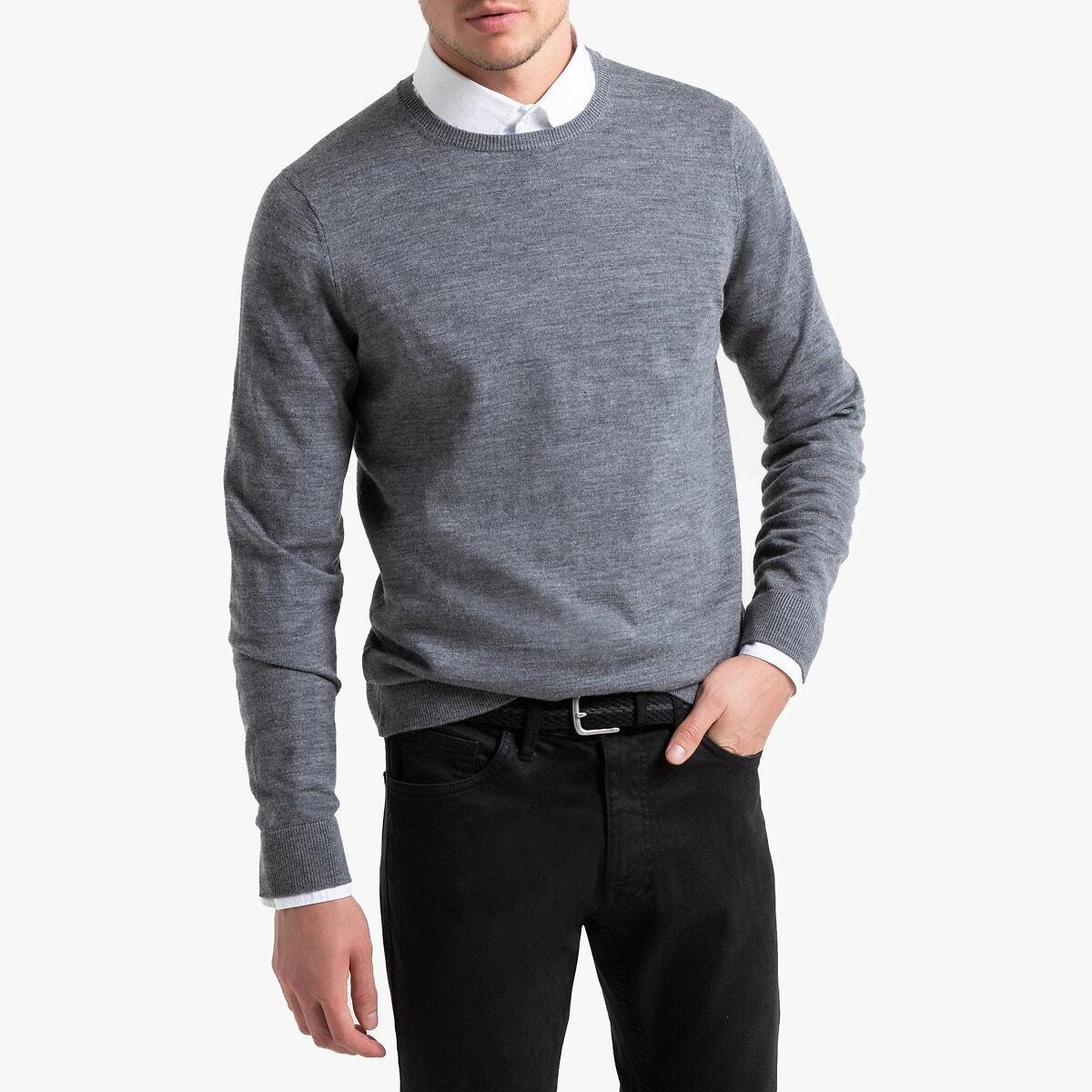 100% Merino Wool Crew Neck Jumper Sweater