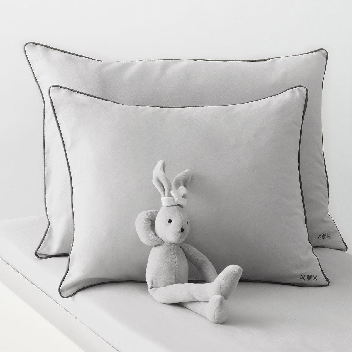 Παιδική μονή μαξιλαροθήκη ΓΚΡΙ σπιτι   κρεβατοκάμαρα   μαξιλαροθήκες
