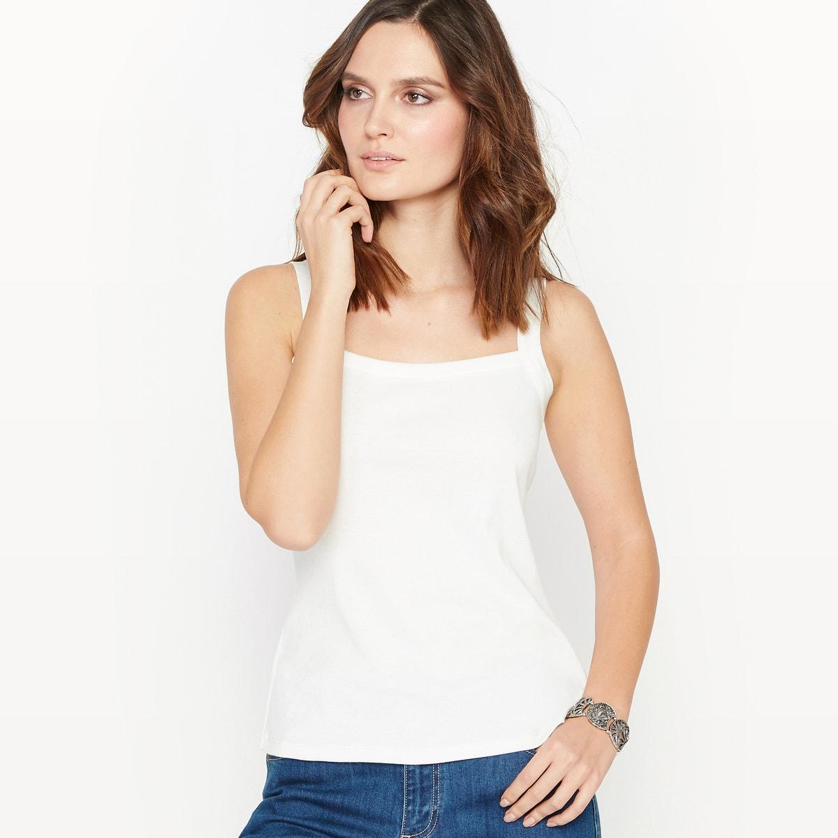 Φανελάκι απο 100% χτενισμένο βαμβάκι ΛΕΥΚΟ γυναικα   μπλούζες   πουκάμισα   τοπ