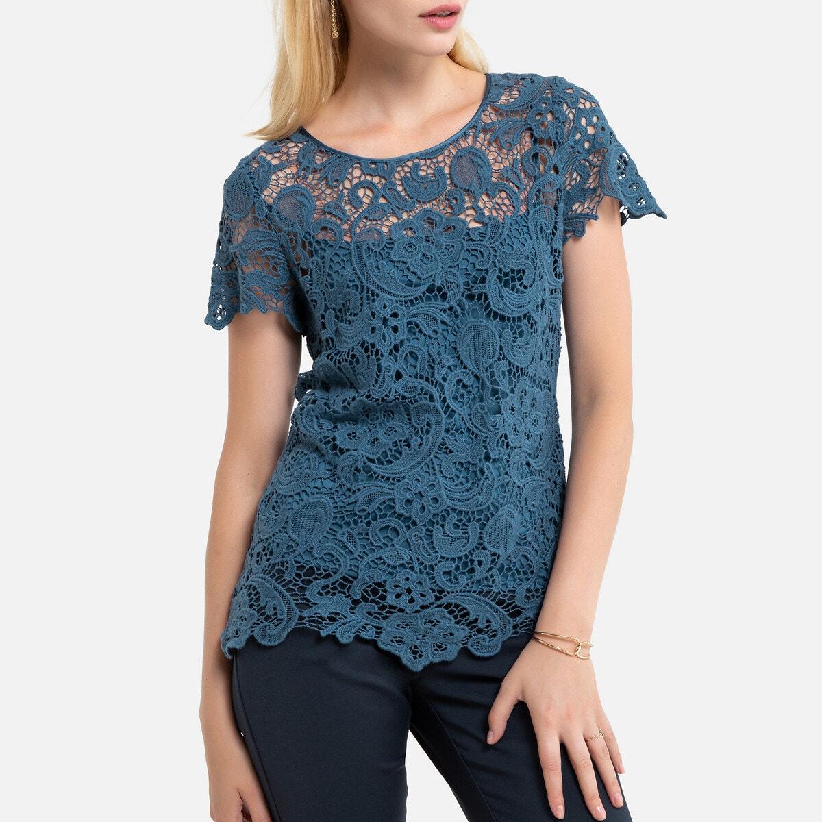 100% Cotton Guipure Lace Blouse