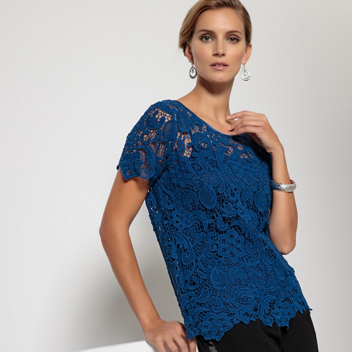 100% Cotton Guipure Lace Blouse γυναικα   μπλούζες   πουκάμισα   τοπ