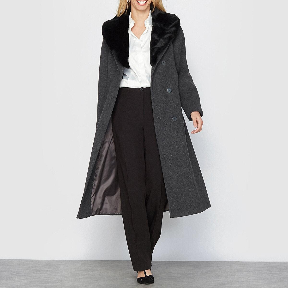 Μακρύ παλτό (110 εκ.) ΓΚΡΙ γυναικα   πανωφόρια   παλτό