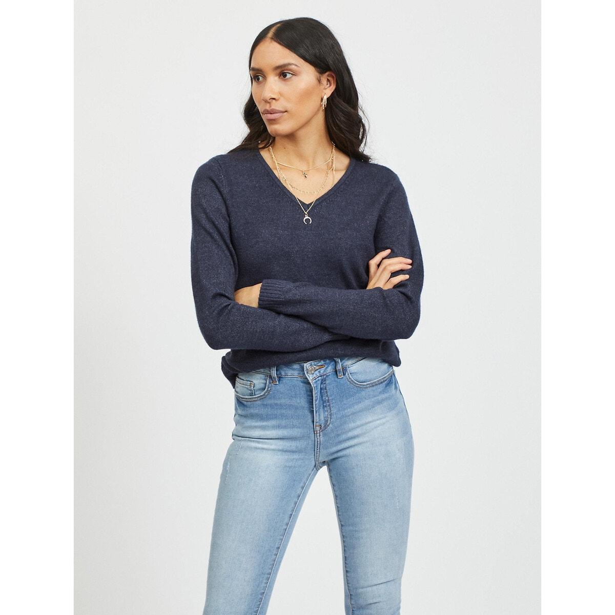V-Neck Fine Gauge Knit Jumper Sweater γυναικα   πλεκτά   ζακέτες   πλεκτά