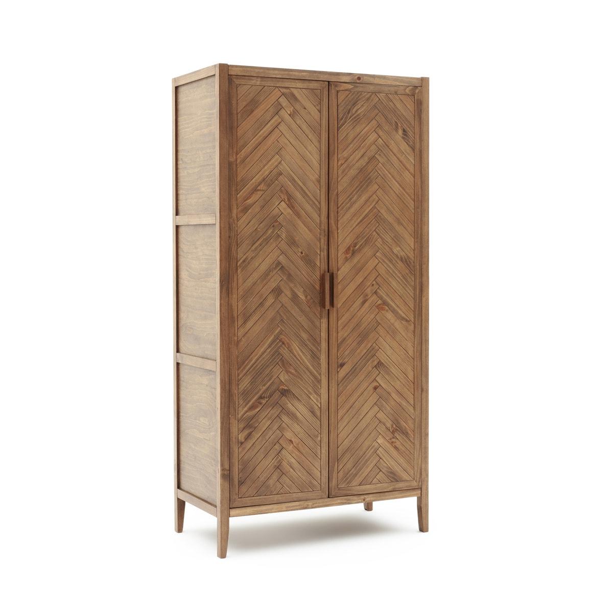 Ντουλάπα με 2 πόρτες από μασίφ ξύλο πεύκου, NOTTINGHAM