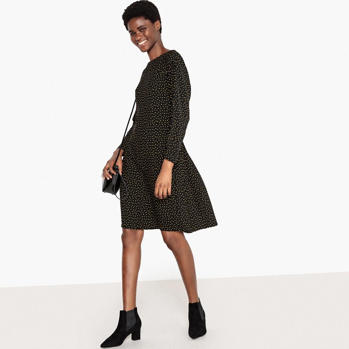 Φόρεμα με πλισέ πλάτη και εφέ ζώνης γυναικα   φορέματα   μακριά ή 3 4 μανίκια