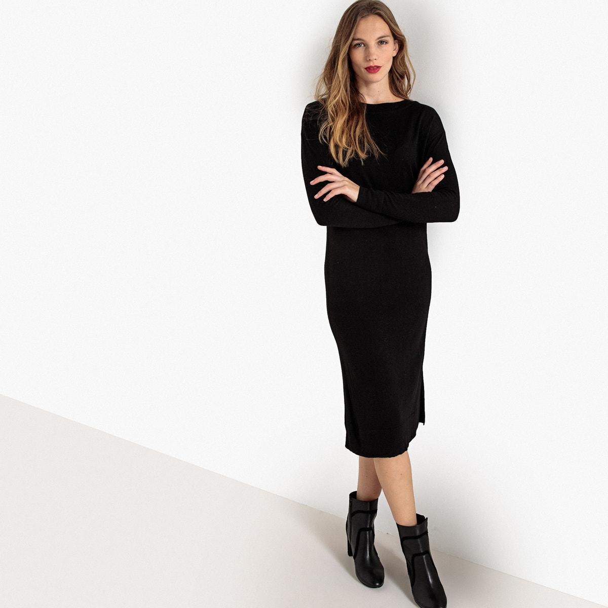 Μακρυμάνικο μίντι φόρεμα σε ίσια γραμμή γυναικα   φορέματα   μακριά ή 3 4 μανίκια