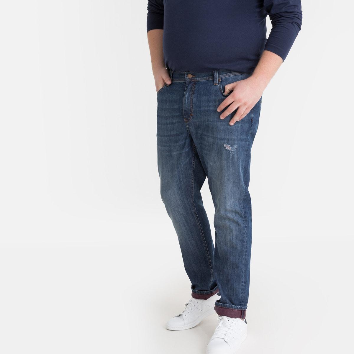 Περιγραφή:- Παντελόνι regular jeans- Κανονική μέση με λάστιχο- Ρεβέρ σε αντίθεσηΣύνθεση και συντήρηση:- 98% βαμβάκι, 2% ελαστάνη- Πλύσιμο στους 40°C στο πρόγραμμα για ευαίσθητα- Σιδέρωμα σε χαμηλή θερμοκρασία- Απαγορεύεται το στεγνωτήριο- Απαγορεύεται το στεγνό καθάρισμαΜεγάλα μεγέθηΠερισσότερες λεπτομέρειες:- Μήκος καβάλου 83,6 εκ., φάρδος στα μπατζάκια 20,3 εκ. για το μέγεθος 54