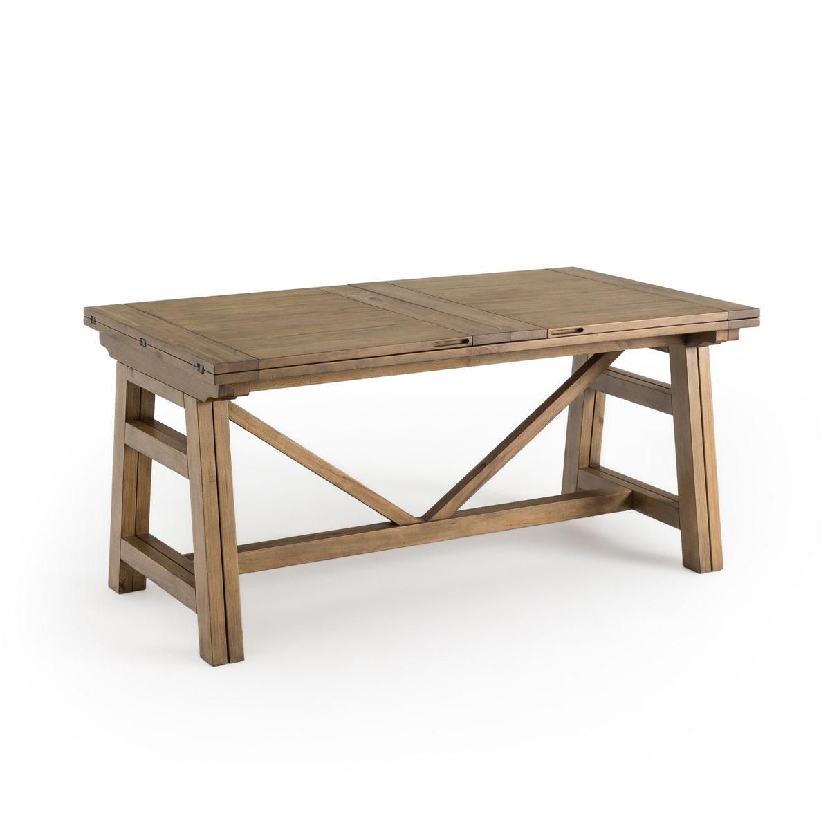 Τραπέζι 6/12 ατόμων από μασίφ ξύλο πεύκου, Wabi