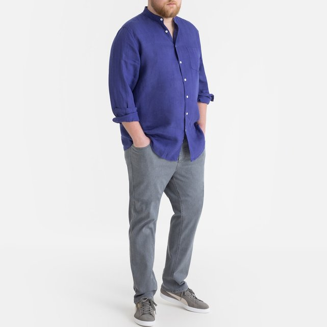 4285d1c67b3a Λινό πουκάμισο με γιακά μάο