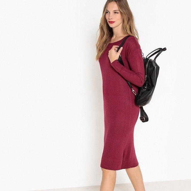 Μακρυμάνικο μίντι φόρεμα σε ίσια γραμμή 76beba081d5