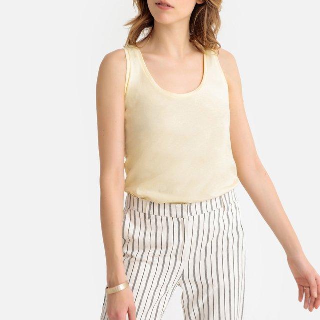 a4558b7b0fe9 Αμάνικη μπλούζα από βιολογικό βαμβάκι με αθλητική πλάτη