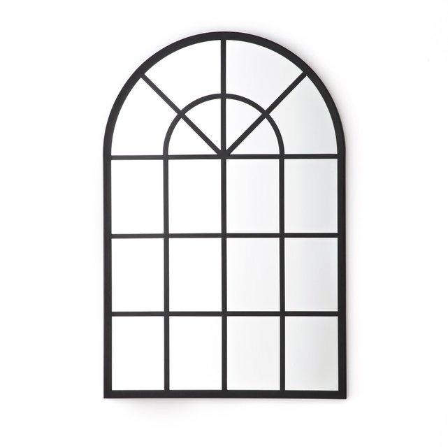 Καθρέφτης σε σχήμα παραθύρου, βιομηχανικού τύπου, LenaigMirror, mirrors window, windows, living room, wall,bedroom,headboard, kitchen,sofa,couch, , armchair, console, entrance, hallway, white wall,bathroom, balcony,garden, outdoor, decor, decoration