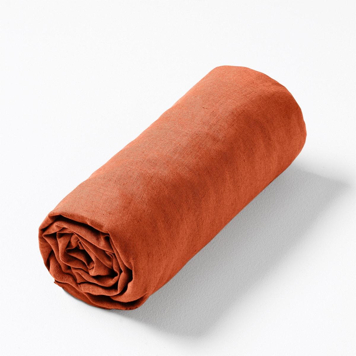 Λινό σεντόνι με λάστιχο για παχιά στρώματα Elina