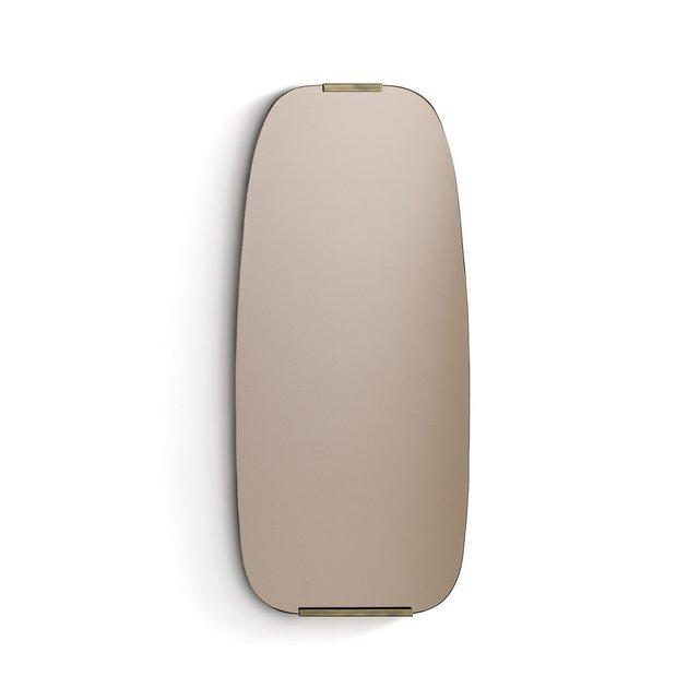 Καθρέφτης από καπνιστό γυαλί και ορείχαλκο Dialect, διάμετρος 72,5 εκ.