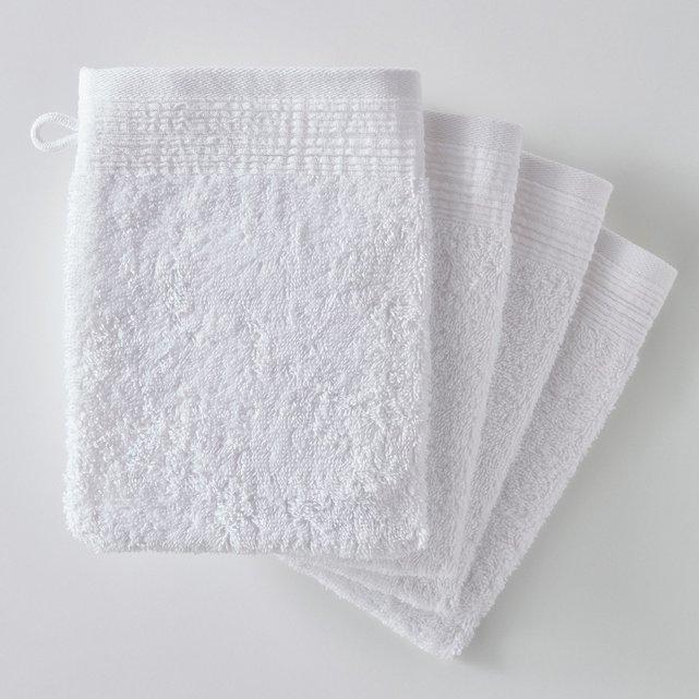 Γάντια μπάνιου από οργανικό βαμβάκι (σετ των 4)