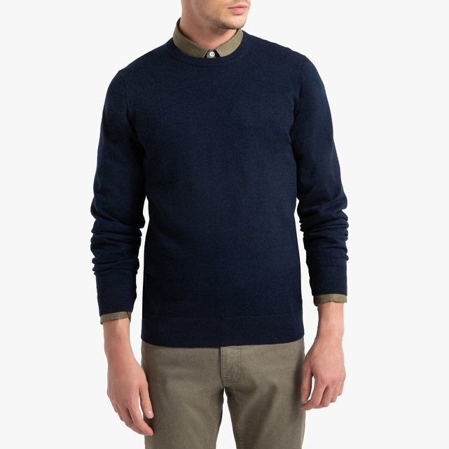 100% Merino Wool Crew Neck Jumper Sweater