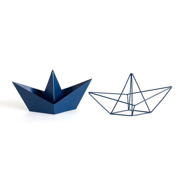 Μεταλλικές διακοσμητικές βάρκες Origami, Gayoma (σετ των 2)