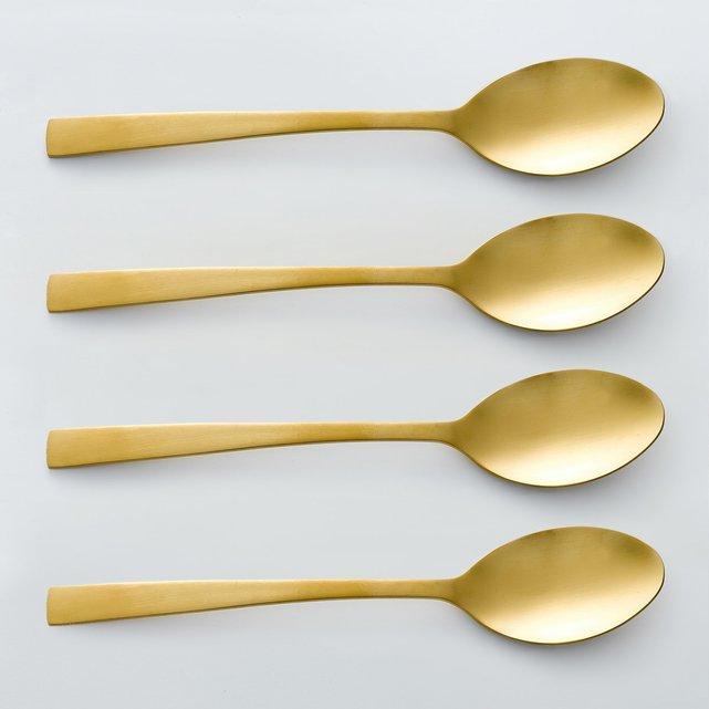 Ανοξείδωτα κουτάλια της σούπας, σε χρυσό χρώμα, Auberie (σετ των 4)