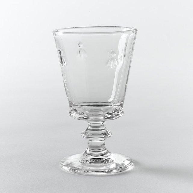 Ποτήρι κρασιού με σχέδιο μέλισσα (σετ των 6)