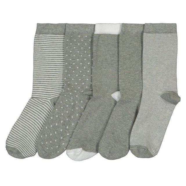 Σετ με 5 ζευγάρια κάλτσες στυλ Fashion Crew
