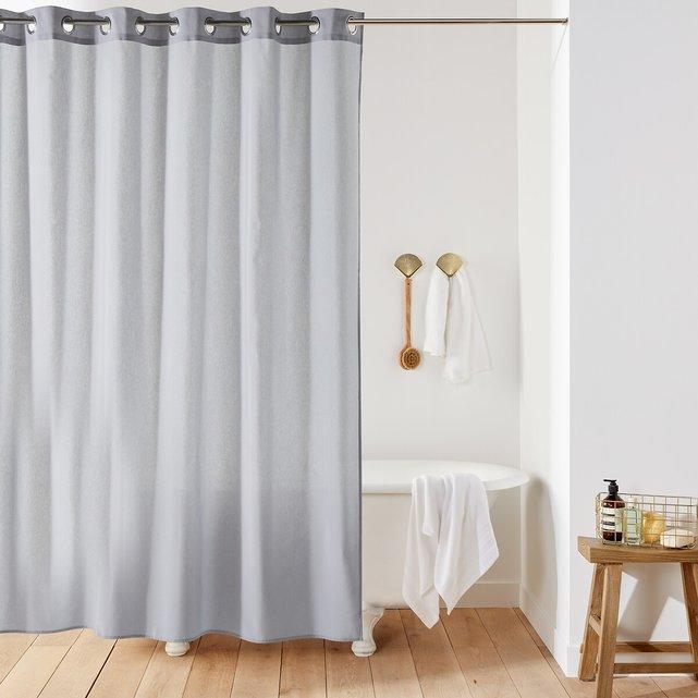 Μονόχρωμη κουρτίνα μπάνιου SCENARIO