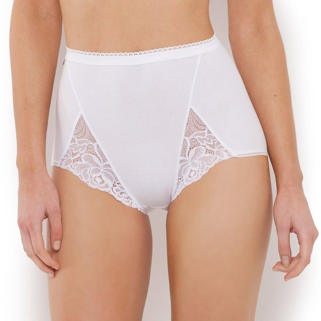 Pack of Two Cotton and Lace Maxi Briefs