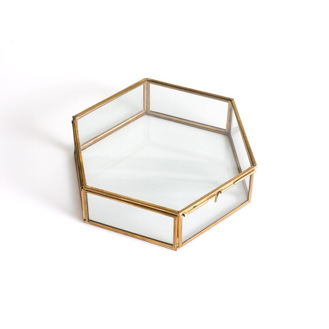 Uyova Εξαγωνικό Κουτί από Γυαλί και Χαλκό