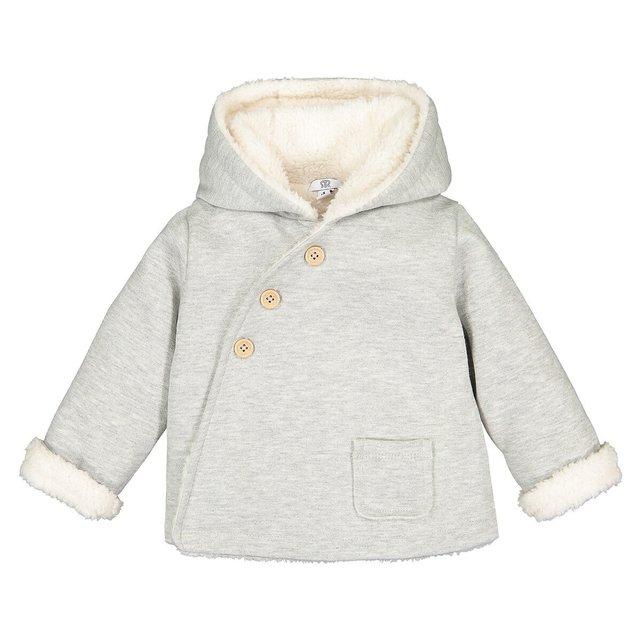 Παλτό με κουκούλα και επένδυση φλις, 0 - 3 ετών