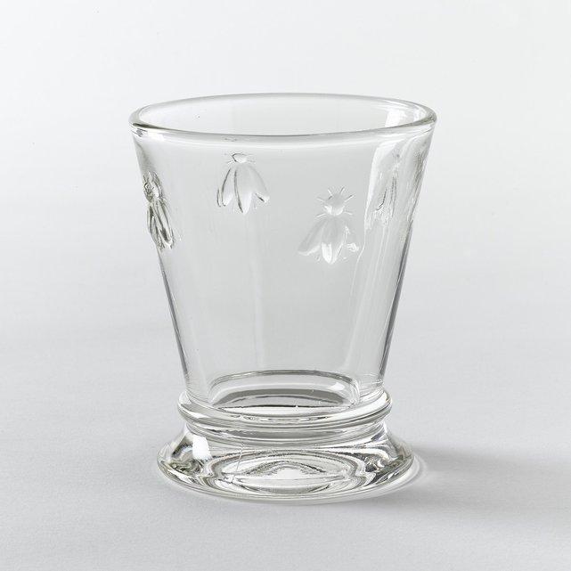 Σετ 6 ποτηριών νερού με ανάγλυφο μοτίβο μέλισσες