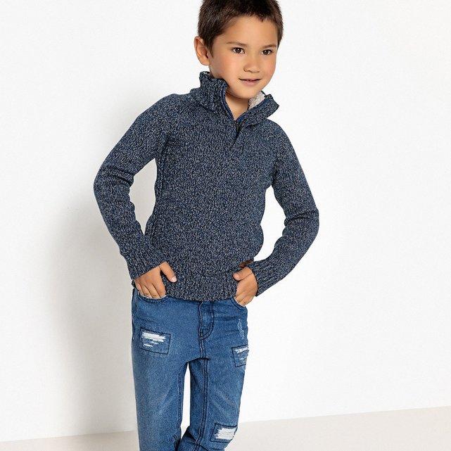 Φούτερ με ψηλή λαιμόκοψη με φερμουάρ, 3-12 ετών