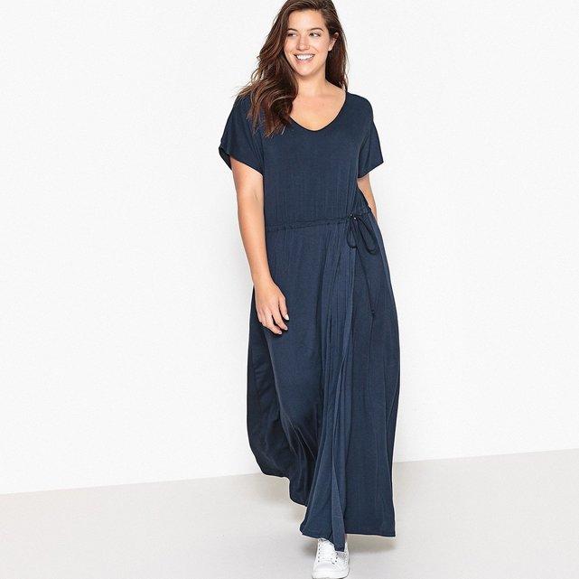 Κοντομάνικο maxi φόρεμα