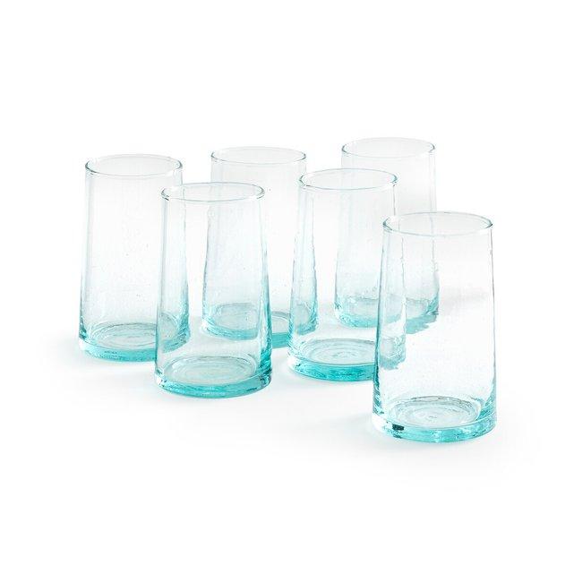 Ποτήρια νερού από φυσητό γυαλί Gimani (σετ των 6)