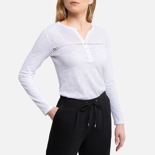 Μακρυμάνικη μπλούζα με κουμπιά