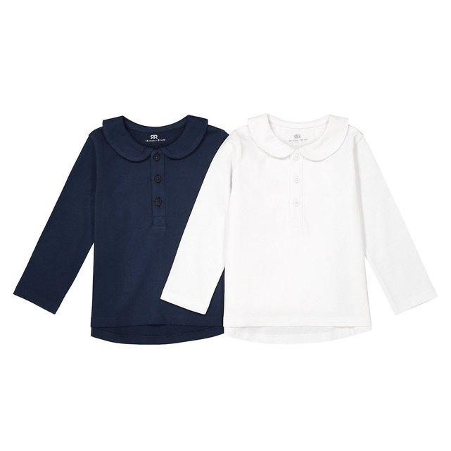 Μακρυμάνικη μπλούζα με στρογγυλό γιακά, 1 μηνός - 3 ετών