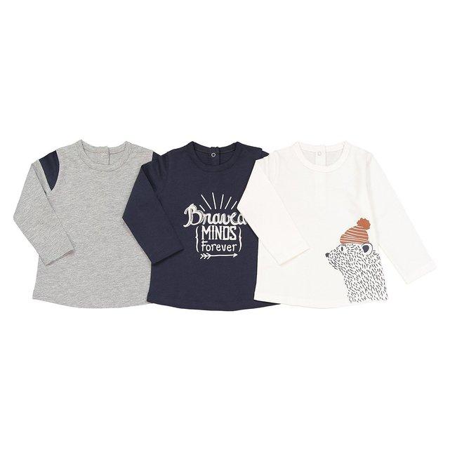 Σετ 3 μακρυμάνικες μπλούζες, 1 μηνός - 3 ετών
