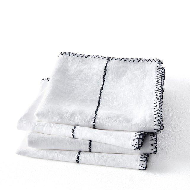 Πετσέτες φαγητού από λινό (σετ των 4) Tojos
