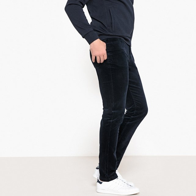 Slim βελούδινο παντελόνι