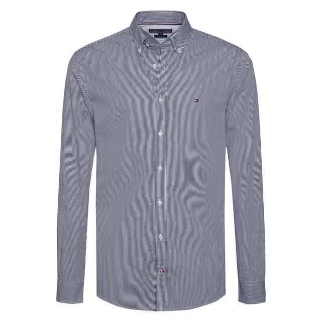 Βαμβακερό ριγέ πουκάμισο