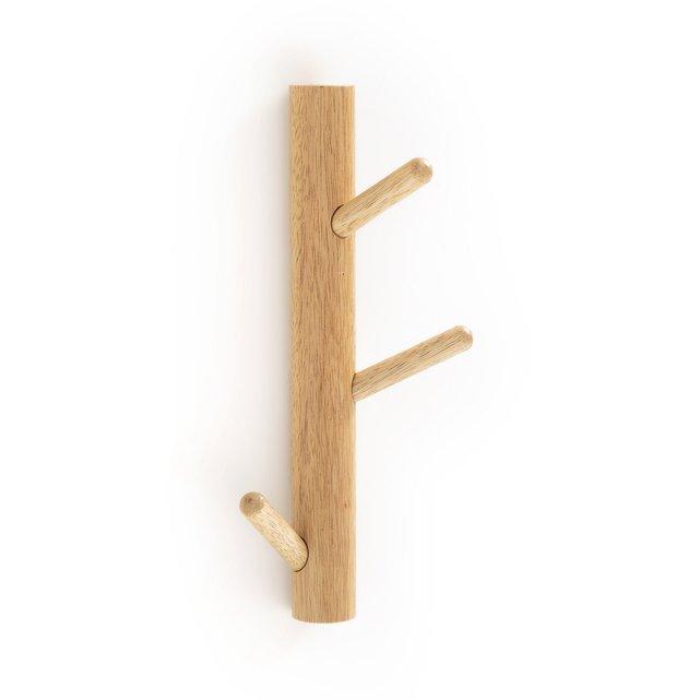 Επίτοιχη κρεμάστρα από ξύλο με 3 άγκιστρα, SUSPENSO