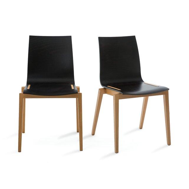 Καρέκλα από μασίφ οξιά Soumam (σετ των 2)