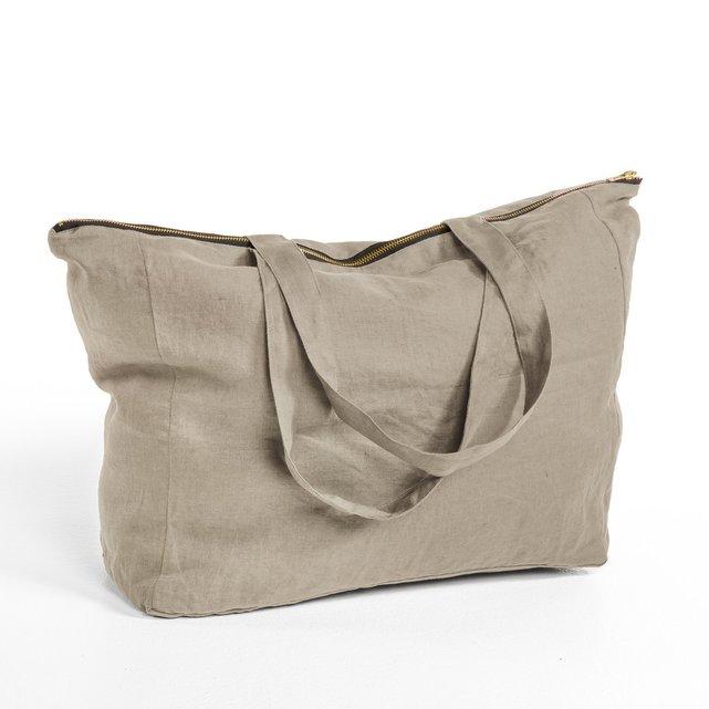 Λινή Τσάντα Με Φερμουάρ Elina
