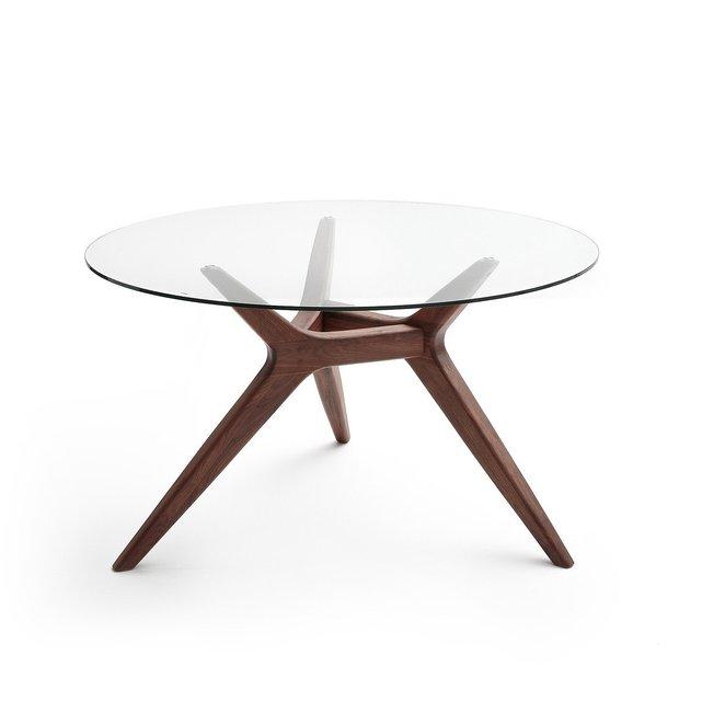 Στρογγυλό τραπέζι με γυαλί Maricielo