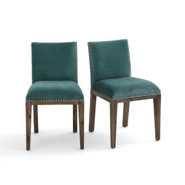 Βελούδινες καρέκλες Eulali (σετ των 2)