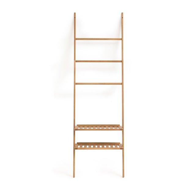 Ραφιέρα μπάνιου - σκάλα, από ξύλο ακακίας