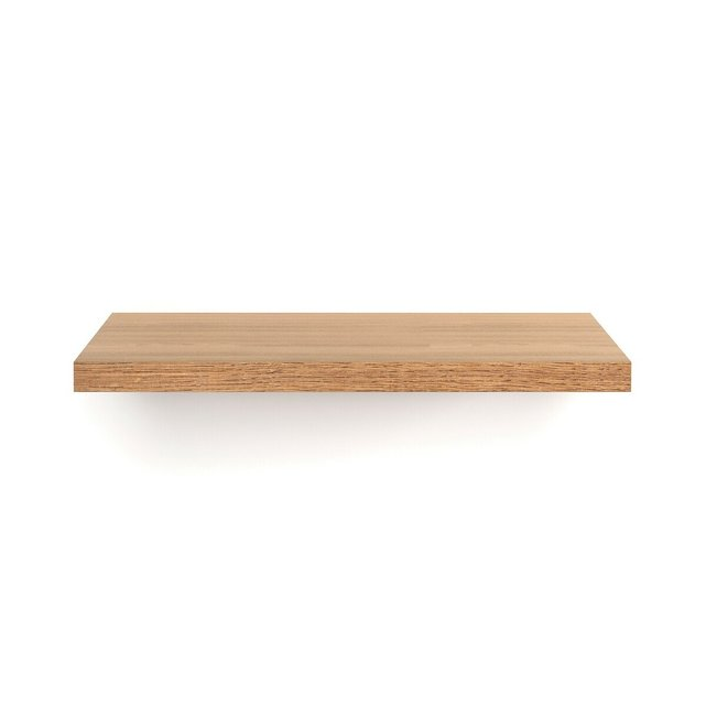 Ράφι επιτοίχιο 60εκ., ξύλο δρυς, Biface