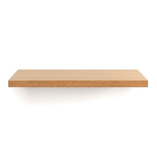 Ράφι επιτοίχιο 80εκ., ξύλο δρυς, Biface