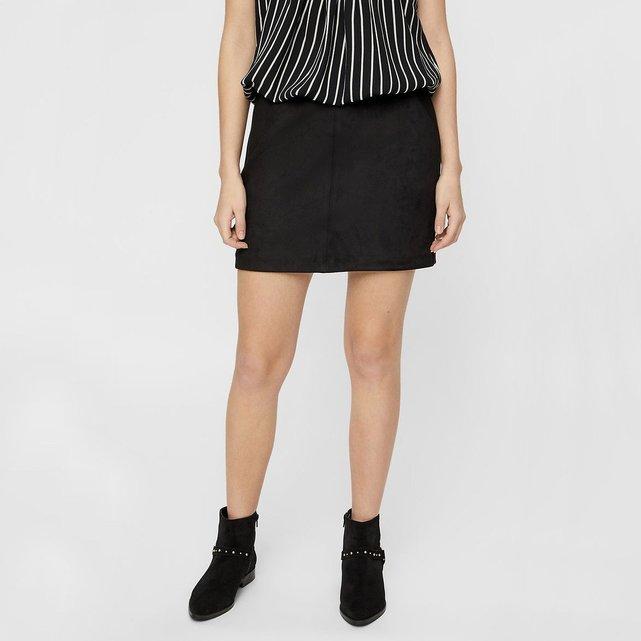 Κοντή φούστα suede