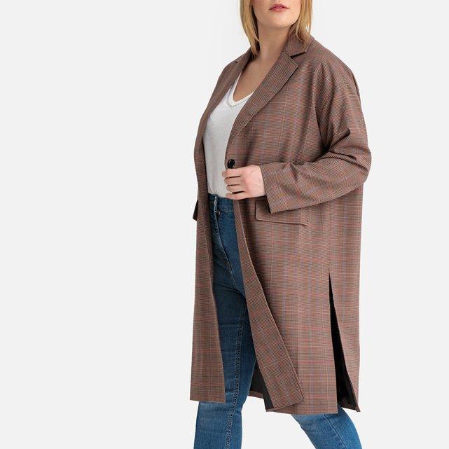 Μακρύ καρό παλτό