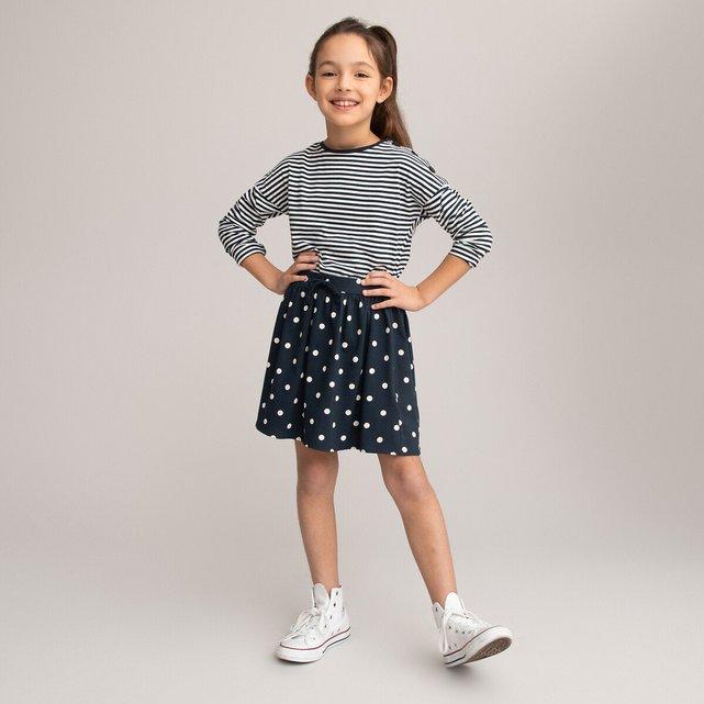 Πουά φούστα με λάστιχο στη μέση, 3-12 ετών